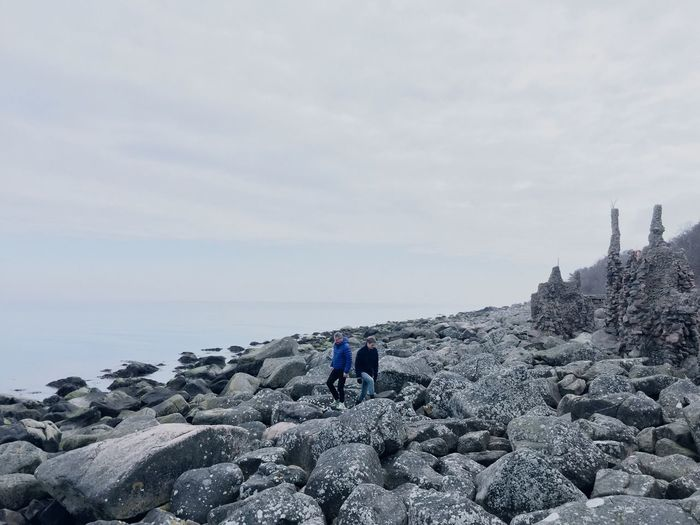 Family Rocks Rocks And Water Adventure Ocean Blue Sky Peace And Quiet Nature Sweden Halland