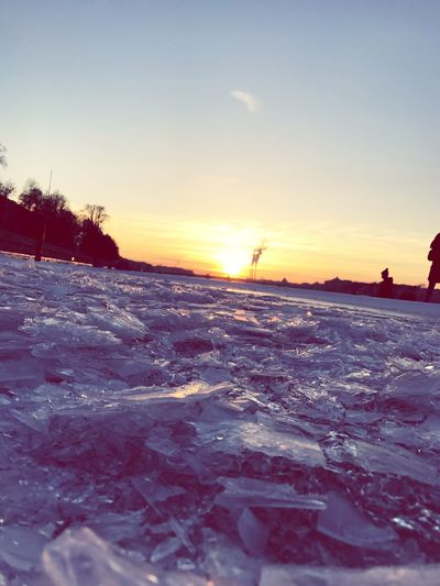 Sanset Winter Cold Temperature Sunset Snow Nature Beauty In Nature Frozen Sky Ice No People Spb