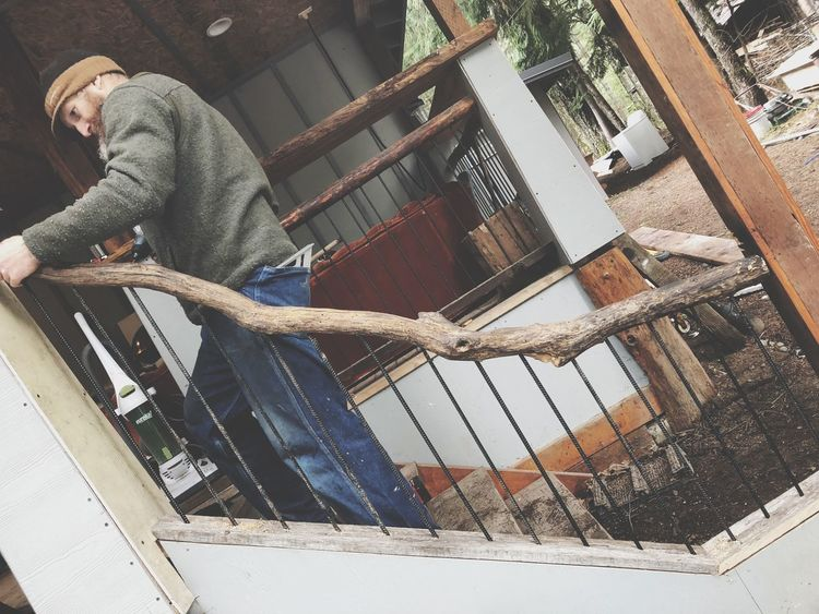 Working handyman Construction Rails Working Handyman EyeEm Selects One Person Real People Day Men Lifestyles Architecture Railing Built Structure