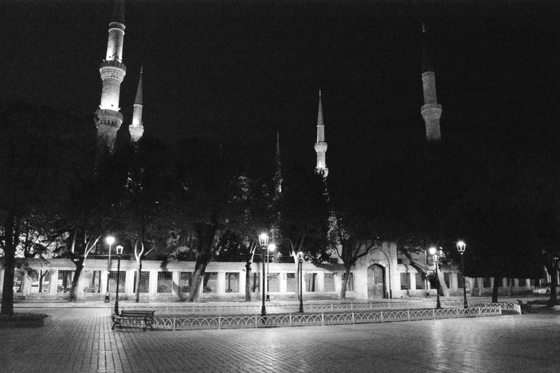 Sultan Ahmed Mosque Night Vision Travel Destinations No People Night Tree Silentnight Pictures Tell A Story On The Street Light And Shadow My Gallery Blackandwhite Photography Outdoors The Street Photographer - 2016 EyeEm Awards 2016 EyeEm Awards City Tourism Turkey