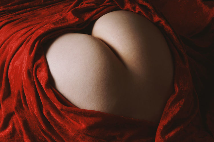 High view of buttocks