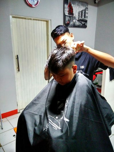 getting haircut is the new level of happiness Barber Men Shaving Barber Shop