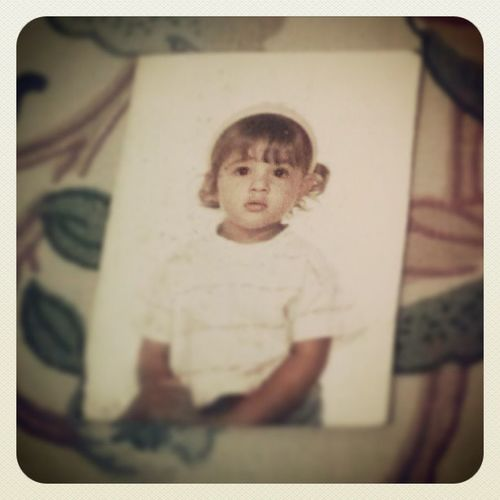 I was little, but my nose was already taking over my face. Throwbackin' just because I can :) Grandmastreasures Infancia Babypri