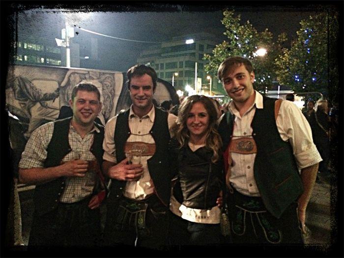 Oktoberfest.! German Beer Erdinger Good Night :P