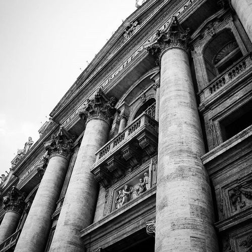 St. Peter's Basilica - Rome Architecture Rome Building ArchiTexture City Buildings Design Cities Town Art Stpeterbasilica Architecturelovers Abstract Lines Instagood Beautiful Archilovers Architectureporn Lookingup Style Archidaily Composition Geometry Perspective Geometric stunning bnw potd blogger blogpost