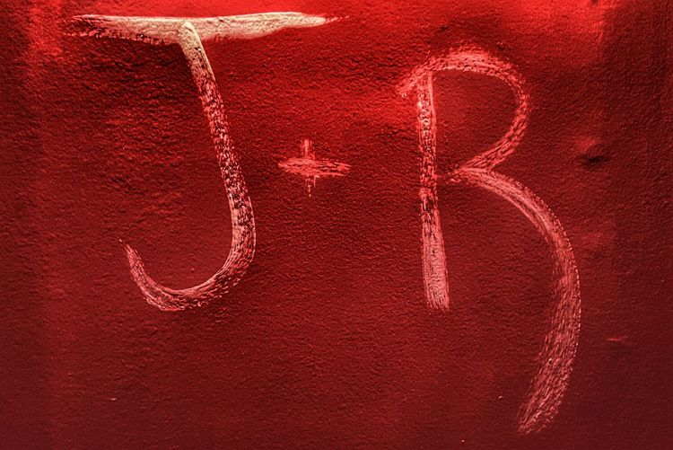 Love Red J+r Painting Paint Initials