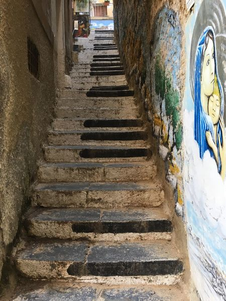 Art Is Everywhere Agrigento Sicily Steps Staircase Architecture Steps And Staircases Built Structure Day Building Exterior The Way Forward No People Outdoors Sky Your Ticket To Europe Colour Your Horizn