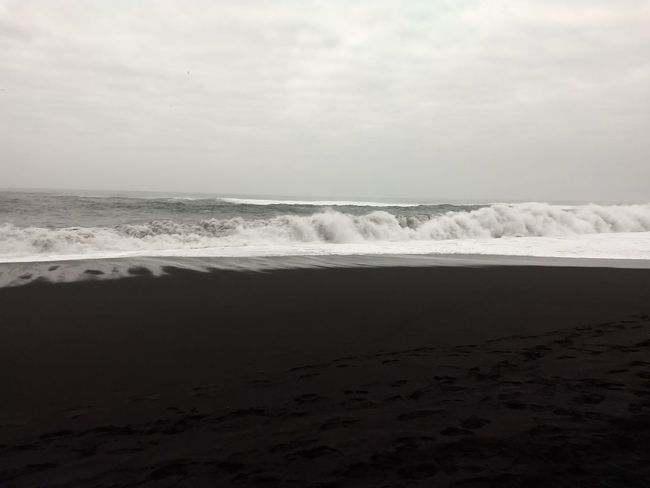 black sand beach Water Wave Sea Beach Desert Sand Salt - Mineral Fog Sunset Outdoor Pursuit Salt Basin Tide Coast Dramatic Landscape