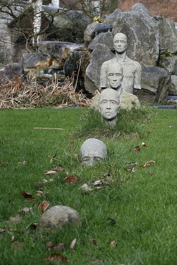 Fade Out Grass No People Day Outdoors Statue Sculpture