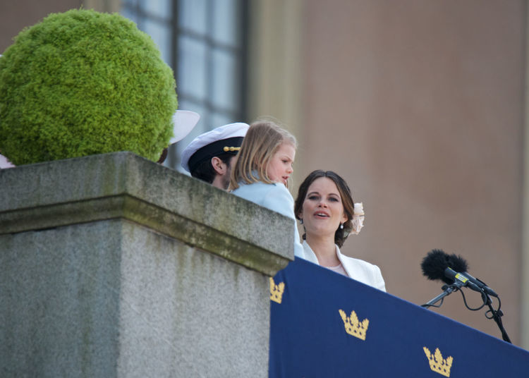 April 30, 2016 H.K.H. Princess Estelle H.K.H. Princess Sofia King Carl XVI Gustaf 70 Years Royal Family Sweden Royal Palace Stockholm, Sweden