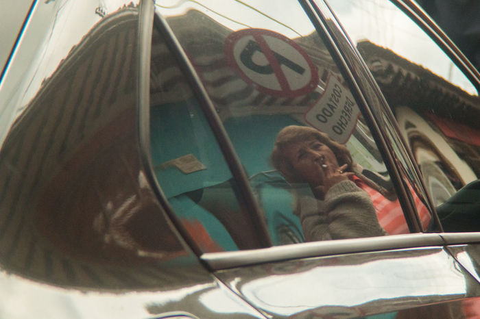 Caught Reflection Smoking Tradition Bojaca Car Cigarrette Land Vehicle Lens With Fungus Low Angle View Mode Of Transport One Person Real People Transportation Vintage Lens Window