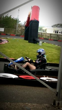 A bit karting to shift the hangover. Gokarting Hungover Hanging Out Enjoying Life Fun Times