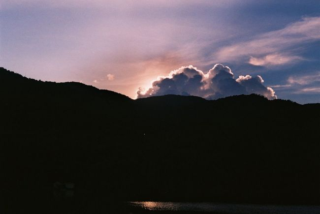 Cloud and sky Film Photography Sky Mountain Beauty In Nature Scenics - Nature Cloud - Sky Sunset Mountain Range Silhouette Tranquil Scene Dramatic Sky