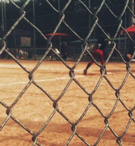 Sports Fense Baseball Game Baseball Focus On Foreground Focus Snapseed Chainlink Fence Outdoors Day Game Playing Field