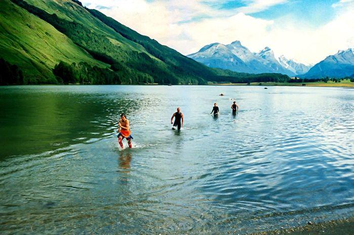 Triathlon Athlete TRIATHLON Mountain Lake Adventure Outdoors Mountain Range People South Island New Zealand New Zealand Landscape Athlete Glenorchy Queenstown Lost In The Landscape