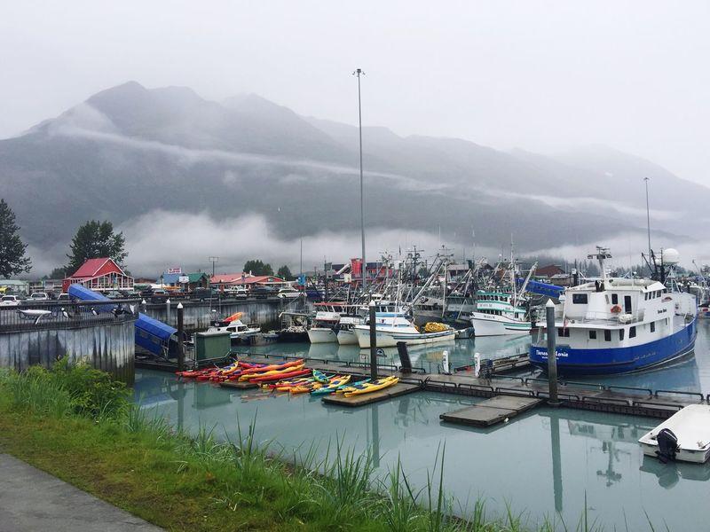 Valdez Harbor Ships Boats Seaside Seaside Town Prince William Sound, AK Valdez, Ak Valdez Alaska Travel Tourist Destination