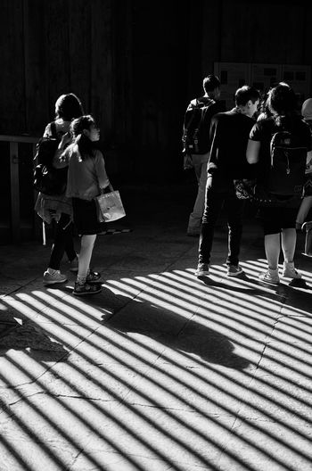 Tourists at todaiji temple