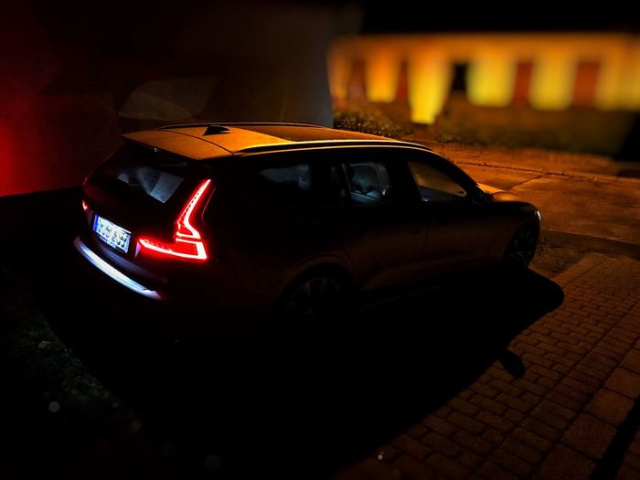 Volvo V60 Car Mode Of Transportation No People Motor Vehicle Technology Transportation Illuminated