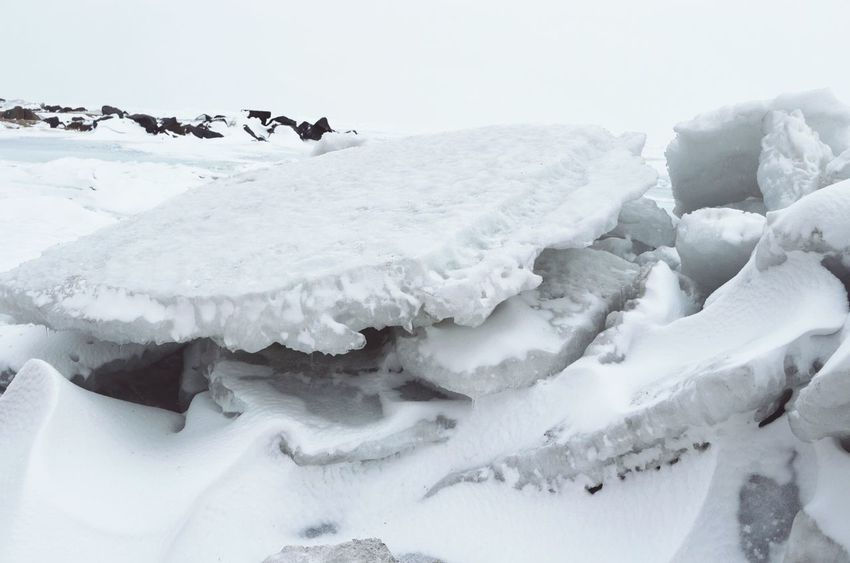 Snow Winter Cold Temperature White Color Landscape Polar Climate Deep Snow Wilderness Nature Day Beauty In Nature Outdoors Ice Close-up No People Snowing Show Stone Winter Frozen Seascape Rock - Object Ice Nature