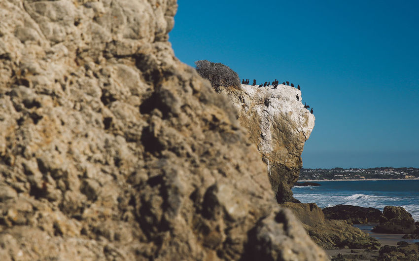 California El Matador Beach Pacific Beauty In Nature Blue Clear Sky Cliff Day Horizon Over Water Nature No People Ocean Outdoors Rock - Object Rock Formation Scenics Sea Sky Tranquil Scene Tranquility Water