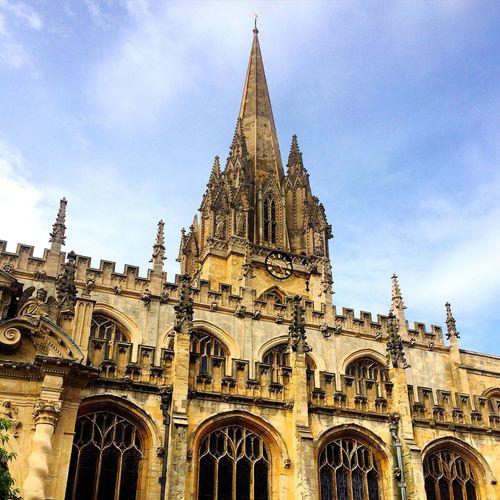 University Church Of St Mary The Virgin Against Cloudy Sky