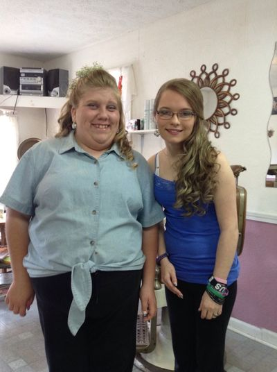 Day 14 best friend & I right before prom in 2013 :D Happy Day Best Friends Prom 2013 I Love Her <3