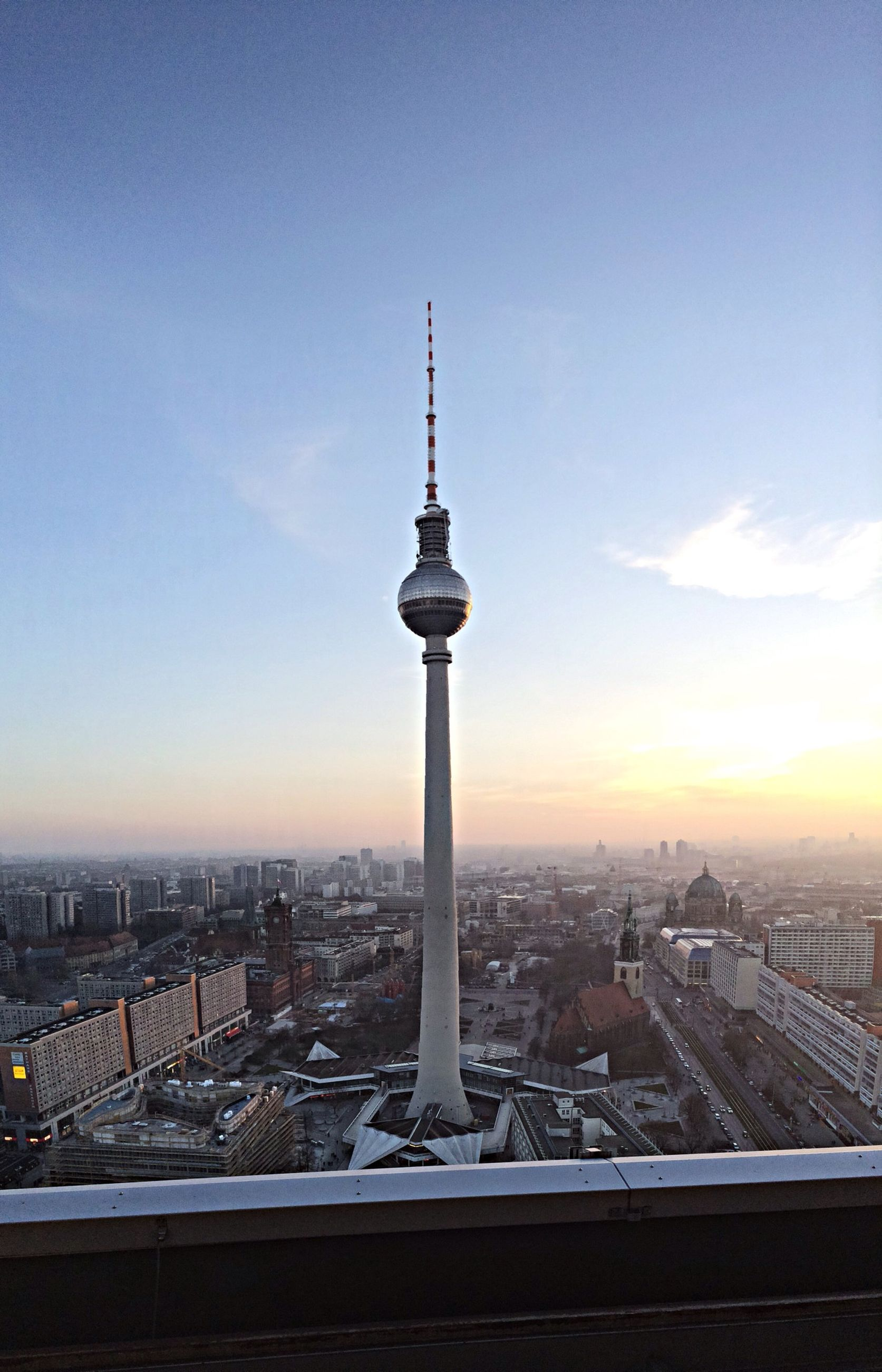 architecture, building exterior, city, built structure, cityscape, tower, tall - high, international landmark, communications tower, capital cities, famous place, travel destinations, spire, skyscraper, tourism, television tower, fernsehturm, travel, sky, sphere