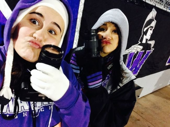 too cold we lost our minds Taking Photos Warren Warriors Playing Around