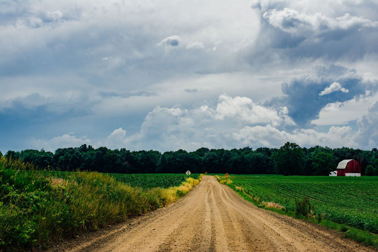 Cloud - Sky Sky Plant Field Land Landscape Environment The Way Forward Direction Tree Road Beauty In Nature Nature Transportation Dirt Road Dirt Scenics - Nature No People Diminishing Perspective Growth Outdoors