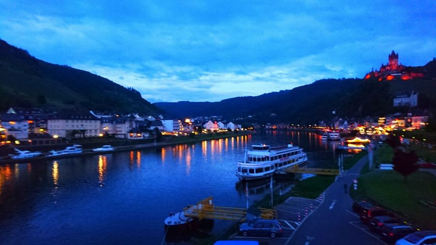 Cochem at night Cochem Moselle Mosel Mosel River In Germany Castle Castles Castle View  City Cityscapes River Riverside Ship Boat Places You Must To See Places To Visit Beautiful Place Beautiful Places Beautiful City Night Beautiful City Nightphotography Night Lights Night View Nightshot Night Fine Art Photography