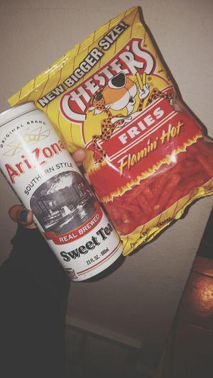 the best Arizona Tea Hot Fries Lol Smh