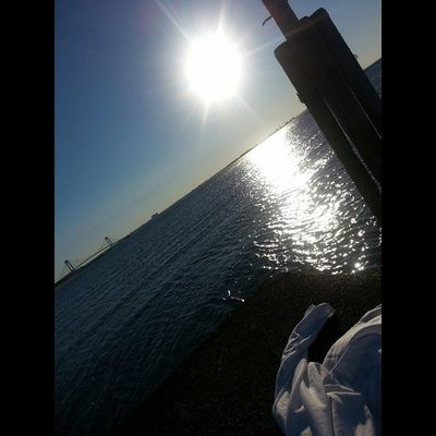 First time in Staten Island. Kimmahbean NYC Statenisland Sunrise pier sittingonthedockonthebay dock