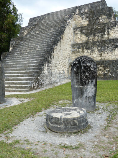 Ancient Architecture Built Structure Guatemala Historic History Mayan Ruins No People Old Old Ruin Rock Carving Ruined Run-down Sky Stela Stone Material The Past Tikal Travel Destinations Travel Photography Travel