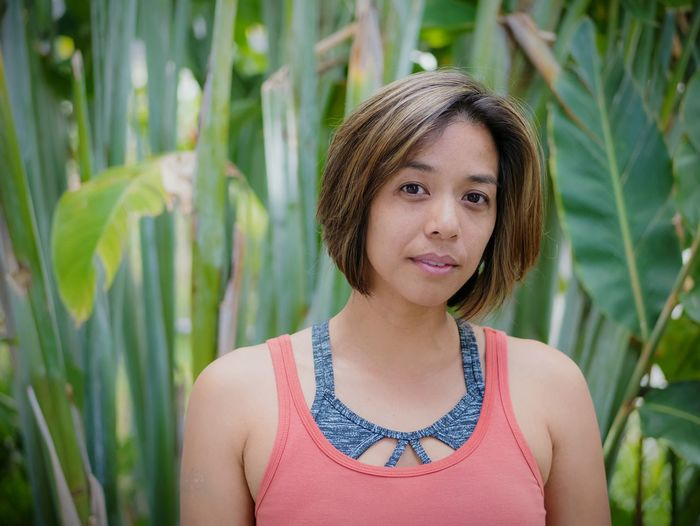 Jade of Kuliouou Portrait Headshot Looking At Camera Front View One Girl Only Beauty Outdoors Day Green Color Nature Young Adult Close-up One Person Cheerful Free Independence Empowerment  Portrait Of A Woman Portrait Photography Portraiture Tropical Paradise Growth Mujer Beautiful Natural Beauty The Photojournalist - 2018 EyeEm Awards The Portraitist - 2018 EyeEm Awards