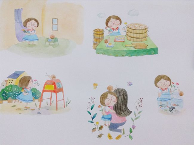 Hi! Watercolor Illustration Art, Drawing, Creativity Enjoying Life Drawing Drawin  水彩 Happy Hello World