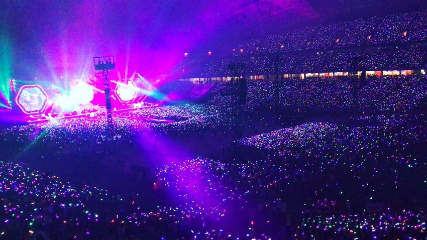Music Stage Light Coldplay Concert  Singapore Coldplaysingapore AHFODtour Popular Music Concert Fun Concert Enjoyment