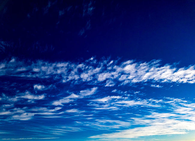 Blue Scenics Nature Beauty In Nature Backgrounds Sky No People Tranquility Abstract Outdoors Day Blue Sky Clouds And Sky Cloudscape Clouds Afternoon Background Texture Textured  Sky Background Clouds Background Sunlight Sunset Skyscape Skyview