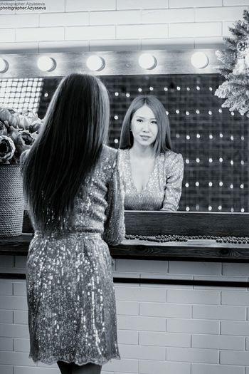 Beauty Mirror Effect Mirrorphoto Memorial Me Dress Shine Bright Like A Diamond  Shine Bright Hair Longhair♥ 45kg First Eyeem Photo
