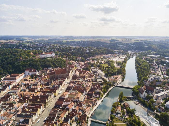 Aerialview from landshut, germany