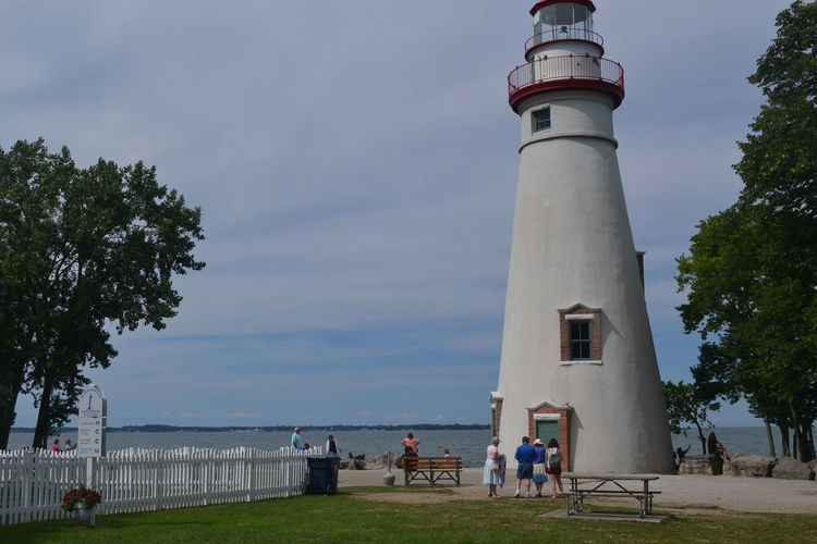 Lighthouse Marblehead Marblehead Lighthouse Marblehead, OH Lighthouse Architecture Day Grass Men Nature Ohio Outdoors People Real People Sky Tree