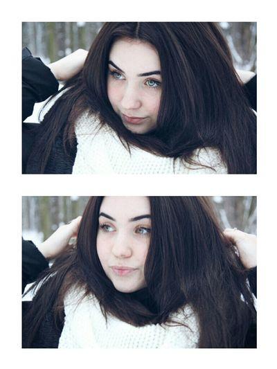 Winter Portrait Russia Hello World Snow Happy Girls