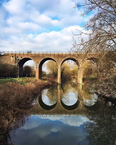 Morning reflection River Bridge Chelmsford Reflection Sky Clouds And Sky IPhoneography Adapted To The City