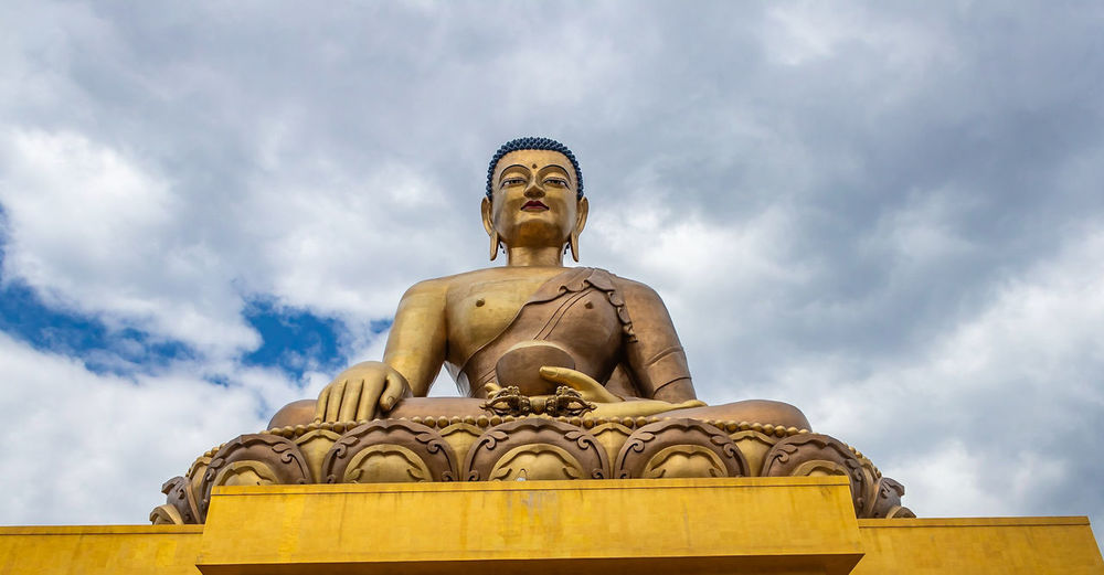 Buddha Point in Thimphu Bhutan Bhutan Thimphu Buddhism Buddhism Culture Buddha Buddha Statue Buddha Temple Gold Colored Sky Cloud - Sky