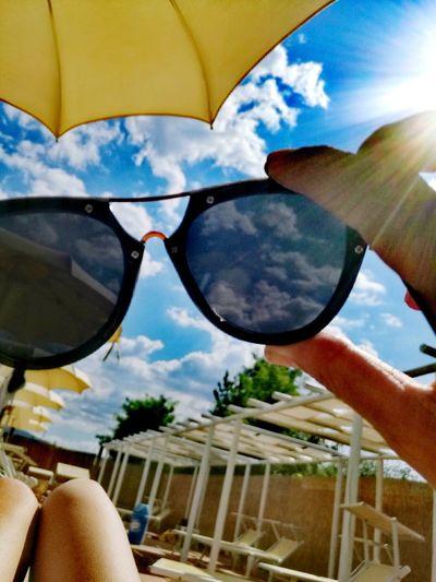 Sunglasses Cloud - Sky Reflection Sky Eyeglasses  Adult Sunlight One Person