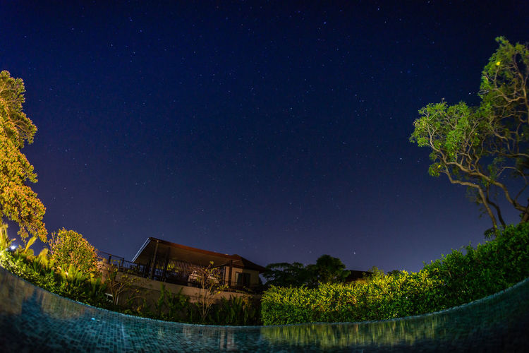 Ocean of Stars Astrophotography Built Structure Illuminated Light Paingint Low Angle View Night Nightphotography Scenics Sky Star Star Field Star Light Swimming Pool Tree Light And Reflections Overnight Success Breathing Space Investing In Quality Of Life Lost In The Landscape