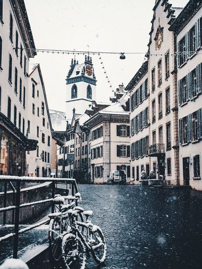Aarau beautiful City Lumix GH5 Gh5 Aarau Switzerland Building Exterior Architecture Built Structure City Building Day Winter Cold Temperature Street Nature Wet Window Rain Outdoors Snowing Rainy Season Water Snow No People