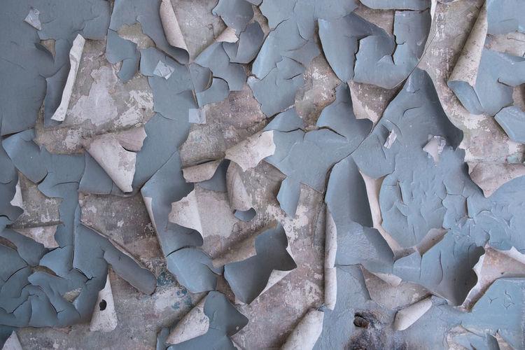 Full frame shot of peeling wall