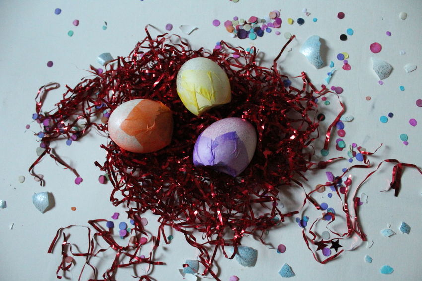 Celebration Studio Shot White Background Advertisment No People Bright Colorful Confetti Holiday Easter Hunt Easter Egg Easter Ready Easter Eggs Close-up NoEditNoFilter