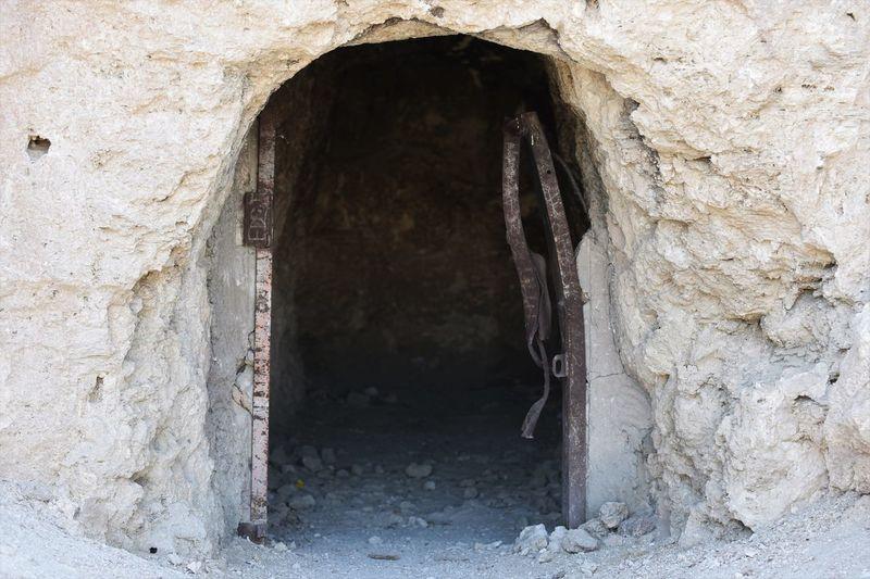 Entrance Metal Door Built Structure Cave Day Door Mine No People Rock - Object Trona Pinnacles