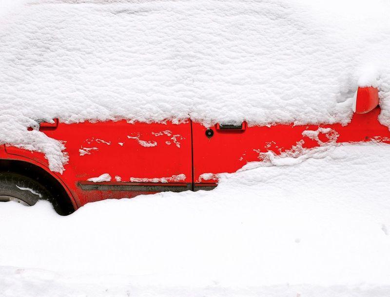Snow Cold Temperature Winter Red Polar Climate White Color Close-up Landscape Frozen Frost Deep Snow
